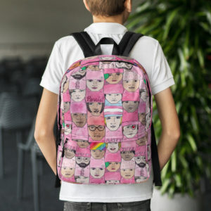 Women's March Faces Backpack