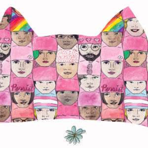 women's march spoonflower pussyhat