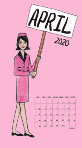 Feminism Style Voting Wall Calendar April
