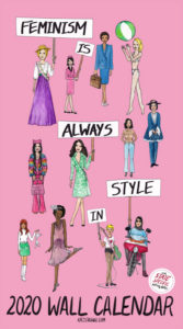 Feminism Style Voting Wall Calendar Cover