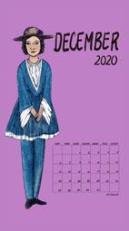 Feminism Style Voting Wall Calendar December