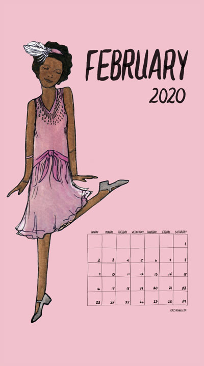 Feminism Style Voting Wall Calendar February