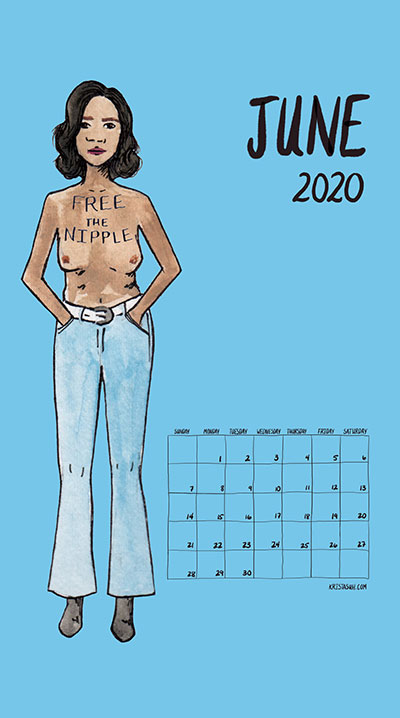Feminism Style Voting Wall Calendar June