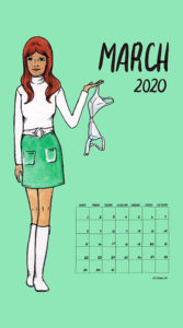 Feminism Style Voting Wall Calendar March