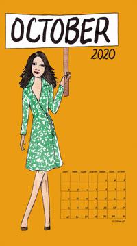 Feminism Style Voting Wall Calendar October