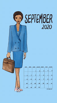 Feminism Style Voting Wall Calendar September